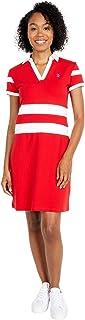 2 Stripe V-Neck Polo Dress
