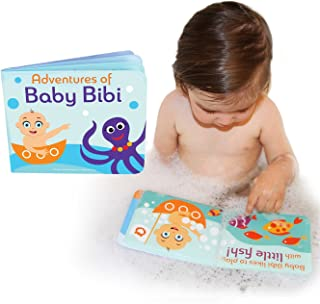 """Adventures of Baby Bibi - Floating Bath Book for Bathtub. 6""""x4.75"""" Waterproof Bubble Book for Toddlers / Infants Bath Tim..."""