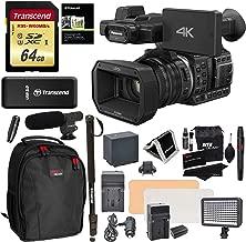 Panasonic HC X1000 4K-60p/50p Camcorder High-Powered 20x Optical Zoom & Professional Functions + Transcend 64GB + Polaroid 72