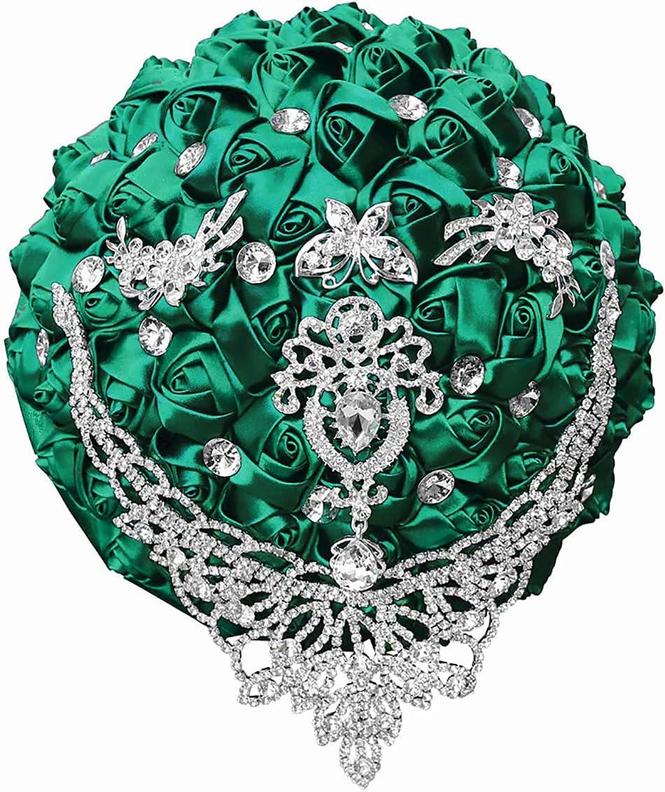 KUPARK Wedding New Max 67% OFF item Bouquet for Bride Flowers Rose Diamond Bridesmaid