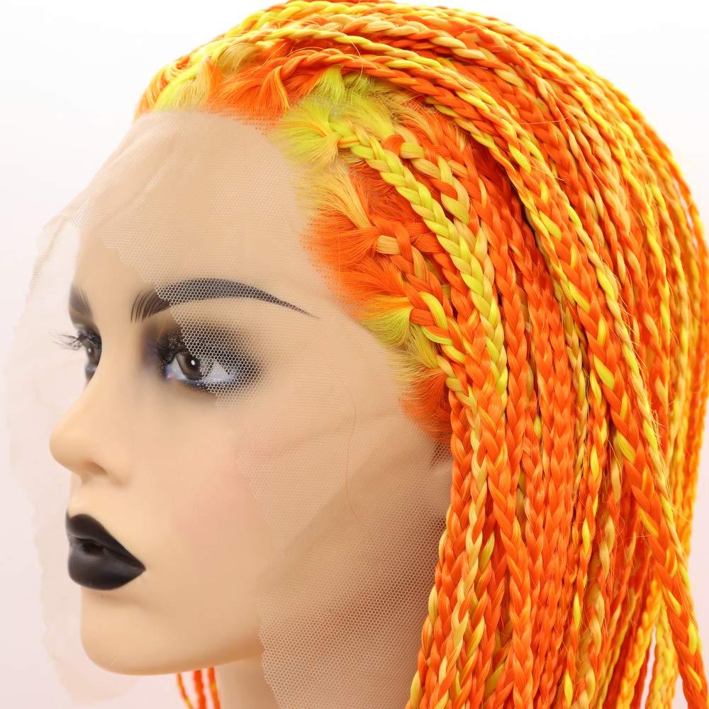 RainaHair Box Braidsed Wigs Long Afro Yellow Store 5 popular Orange Highlight Am