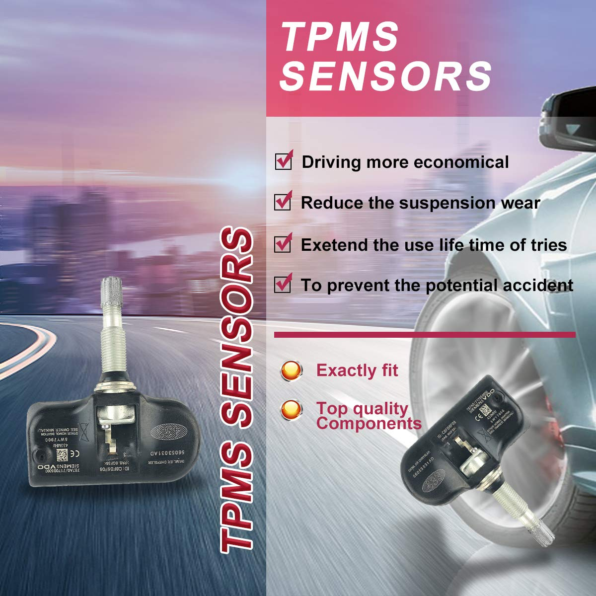 Details about  /4x TPMS Tire Pressure Monitoring Sensor for Chrysler 300 Town Country 11-16
