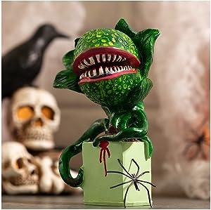 Halloween Piranha Resin Sculpture Decoration, Horror Artificial Ghoulish Garden Piranha Statue, Copy Movie Props, for Halloween Party Tabletop & Outdoor Yard Lawn Decor