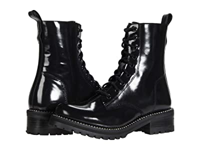 STEVEN NEW YORK Gardy (Black Leather) Women