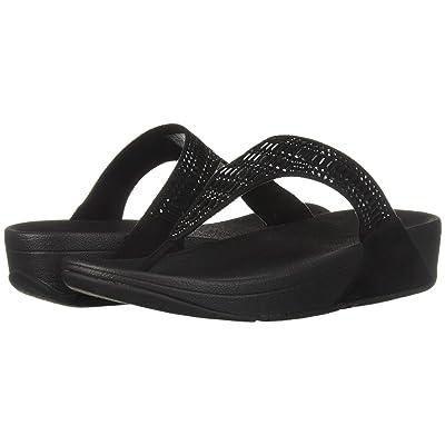 FitFlop Incastone Toe Thong Sandal (Black) Women