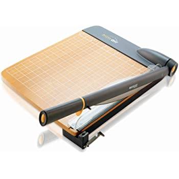 """Westcott ACM15107 TrimAir Titanium Wood Guillotine Paper Trimmer with Anti-Microbial Protection, 15"""""""