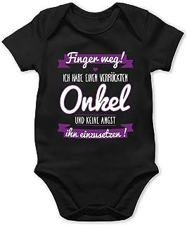 Shirtracer Ich habe einen verrückten Onkel lila - Baby Body Kurzarm für Jungen und Mädchen