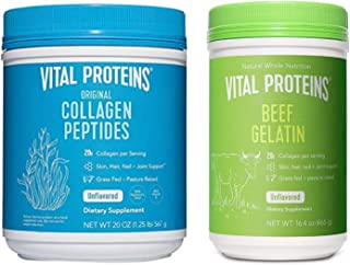 Vital Proteins Collagen Peptides Powder 20oz & Beef Gelatin 16.4oz