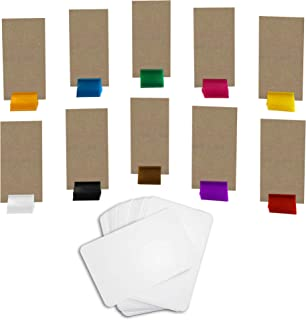 Custom Stand Up Game Pieces (Set of 10) and Blank Deck of Playing Cards - Make Your Own Board Game Add On Pack
