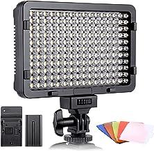 ESDDI LED Fotolicht, Videolicht, 176 LED Super Bright Dimming 3200-5600K, 5 Farbfilter,..