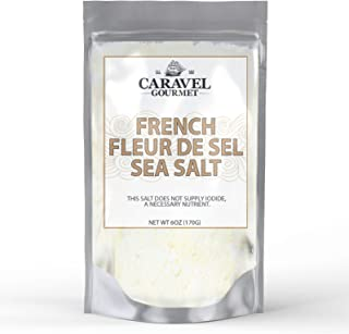 French Fleur de Sel Fine Sea Salt - Pure, All-Natural, Unrefined, Kosher Hand-Harvested Sea Salt from Bretagne, France - the Gold Standard for Finishing Salts - 6 Ounce Refill Pouch