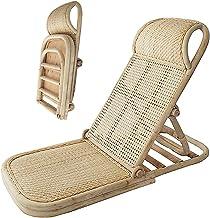 Beach Loungers Reclining Patiochair Sun Lounger Cushion - Wooden Folding Adjustable Backrest, Outdoor&intdoor, for Garden,...
