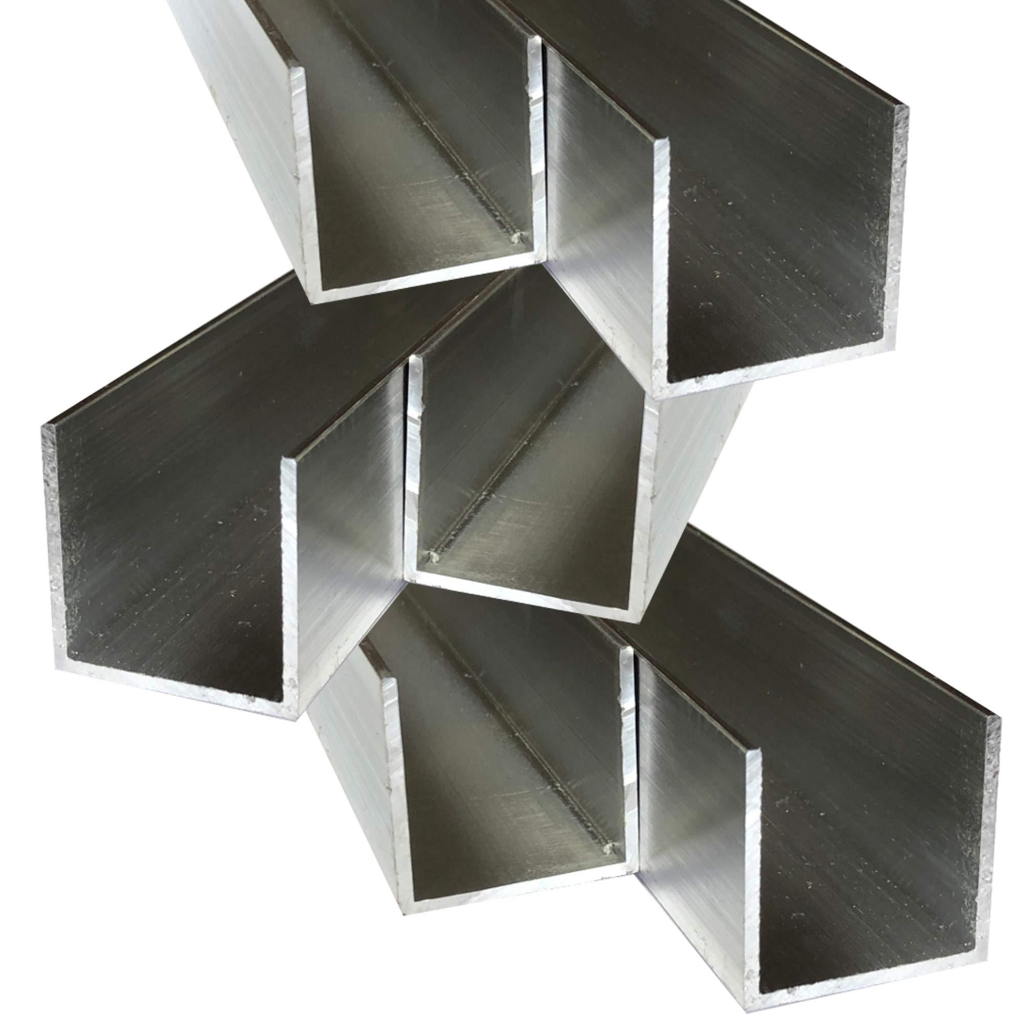 Alu U-Profil 35x35x35x3mm Aluprofil Aluminium 1 Meter