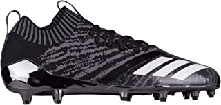 adidas Men's Adizero 5-Star 7.0 Prime Knit Football Cleats (10.5, Black/White)