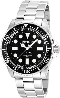 Men's 20119 Pro Diver Analog Display Swiss Quartz Silver Watch