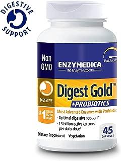Enzymedica, Digest Gold + PROBIOTICS, Digestive Aid for Maximum Relief, Vegetarian, Gluten Free, Non-GMO, 45 Capsules (45 Servings) (FFP)