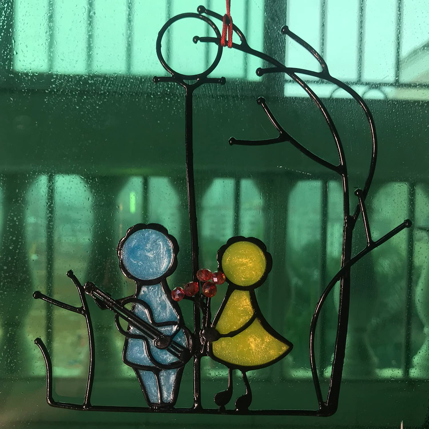 sold out Garden Suncatchers Stained Resin Love OFFer Family Orna Hanging Window