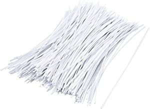 Sunmns 250 Piece Twist Cable Cord Wire Ties Reusable Fastening (6 Inch, White)