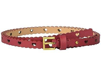 Kate Spade New York 13 mm. 1/2 Heart Perf Belt (Heirloom Red) Women