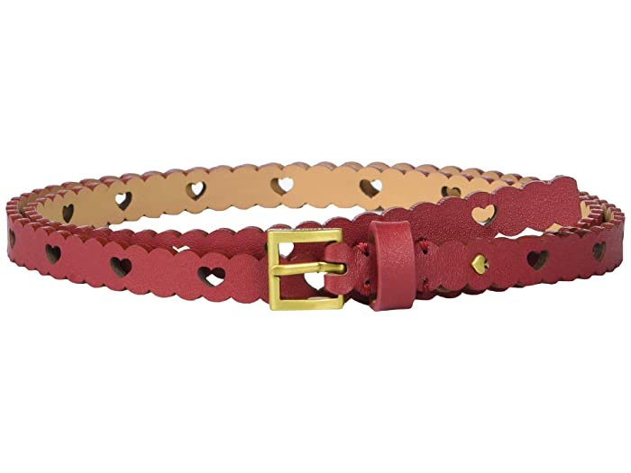 Kate Spade New York 13 mm. 1/2 Heart Perf Belt (Heirloom Red) Women