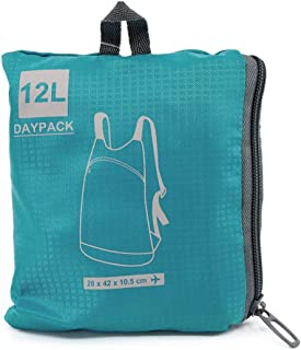 Safe and Sound Travel Hardwearing Waterproof Folding Travel Backpack In A Bag. 12 Litre. Colour Received Will Vary