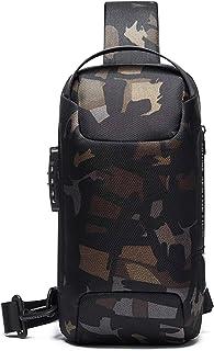 FANDARE Brusttasche Sling Rucksack Daypacks mit USB für Herren Damen Schultertasche Grosse Kapazität Umhängetasche für Out...