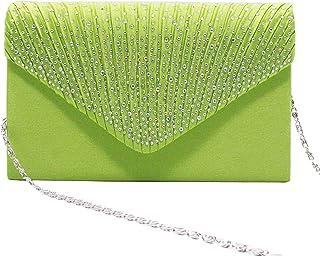 c4269140fa Tavie Femmes Sac à Bandoulière En Satin Glitter Diamante Enveloppe Bourse  Sacs Soirée De Bal Fête