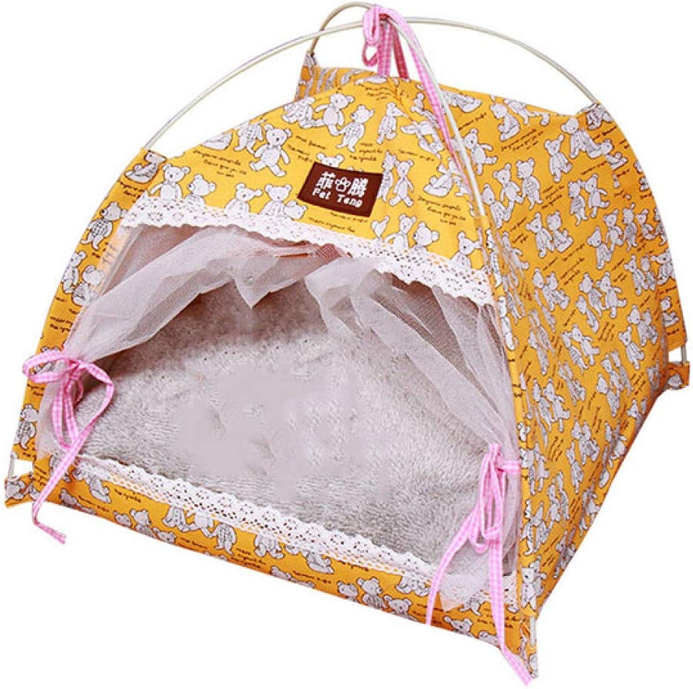 DZTIZI Pet Tent Portable Soft Breathable, Washable, Wear Resistant For Small Dogs Cats Pets,L