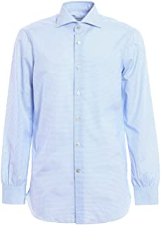 Luxury Fashion Mens K1004VICKY Light Blue Shirt | Season Permanent