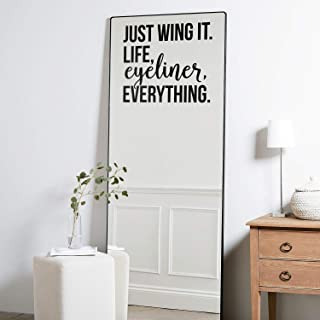 Vinyl Wall Art Decal - Just Wing It Life Eyeliner Everything - 17