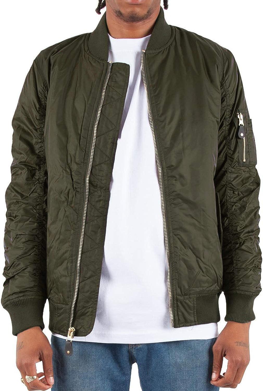 Shaka Wear Men's Flight Jackets – Casual MA-1 Bomber Coat Windbreaker Full Zip Fully Lined Regular and Bigs S~3XL