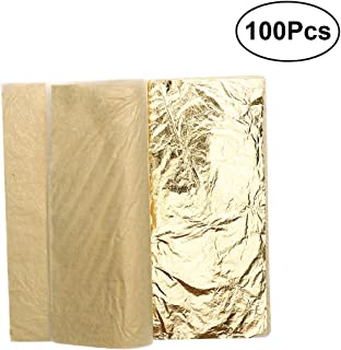 WANDIC Blattgold-Flocke 8er-Set Kunststoffgold-Flocken Nailart-Glitzer f/ür Geburtstagsfeiern Dekorationen Hochzeiten Design Zwecke Handwerk /& Kunst