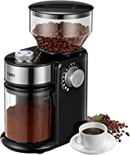 Burr Coffee Grinder, Large Hopper Electric Burr Mill with 18 Grinding Options for 2-14 Cups, Automatic Burr Grinder for Dr...