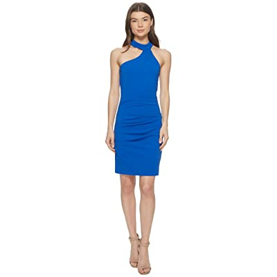 Nicole Miller Mock Neck Dress (Bondi Blue) Women