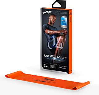 PTP MicroBand Resistance Loop Band with Door Anchor and Exercise Poster, Orange, Heavy