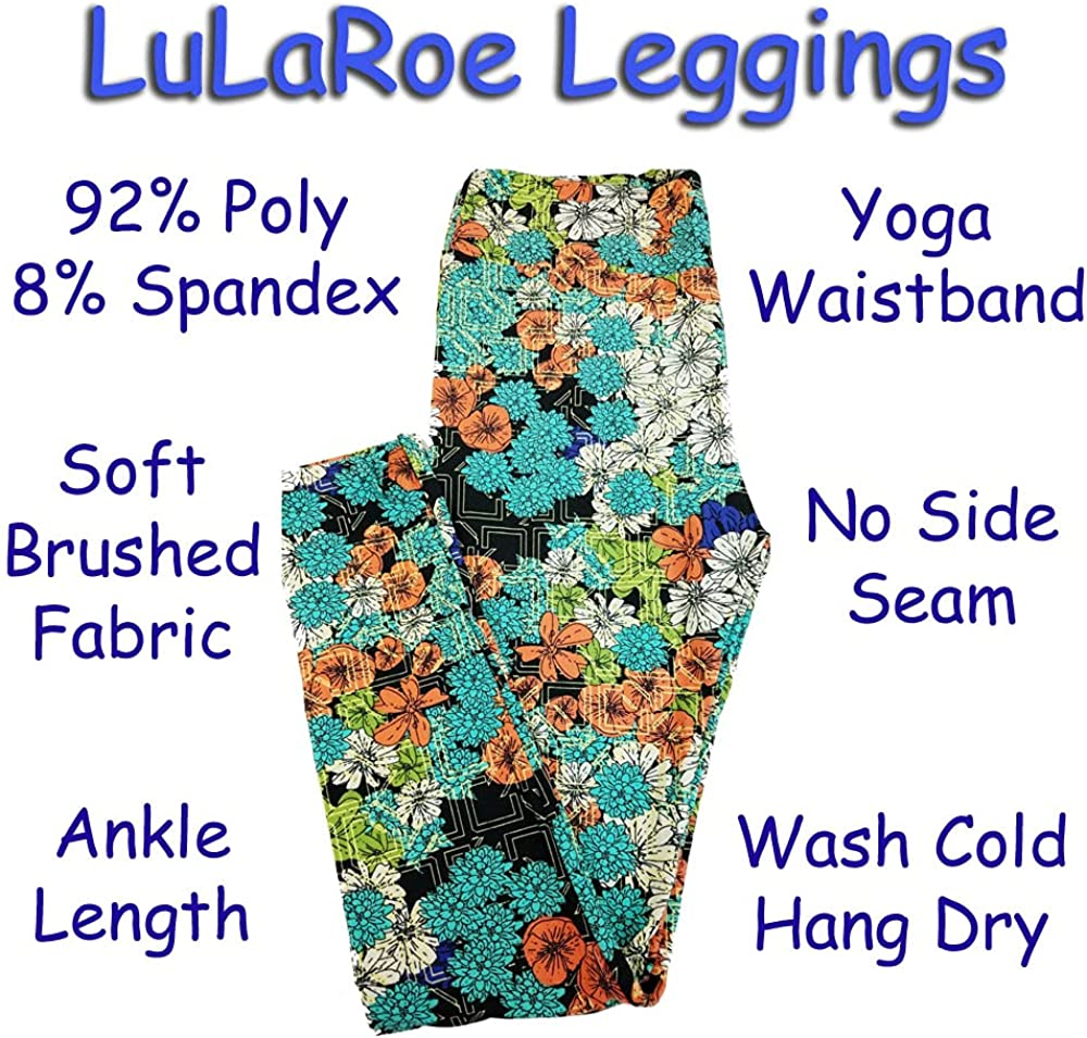 Lularoe Tall Curvy TC Patchwork Mandalas Black White Green Teal Red Pink Leggings (TC fits Adults 12-18) TC-7228-A20