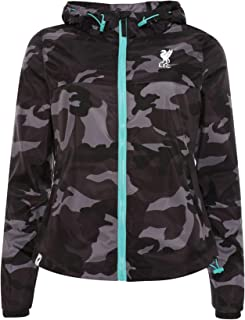 Liverpool FC Womens Black Camo Jacket LFC Official