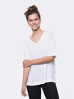 camiseta gola v cubo pima