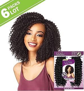 6 PACKS/LOT Sensationnel Synthetic Hair Crochet Braids Lulutress 2X Island Twist 8