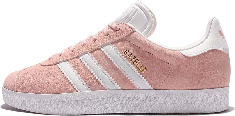 Amazon.com | adidas Women's Gazelle W, VAPOUR PINK/FOOTWEAR WHITE ...