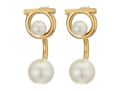 Salvatore Ferragamo Gancio Pearl Earrings (Oro/Pearl) Earring