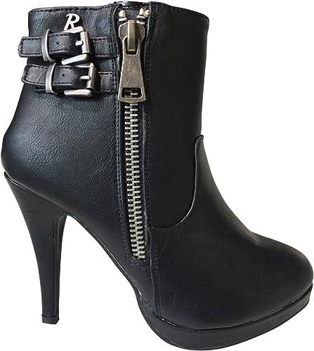 Refresh Femme Ankle Ankle démarrage Noir  différentes tailles