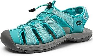 SAGUARO Randonnée Sandale Femmes Air Plage Eau Sandales de Randonnée Marche Bout Fermé Chaussures