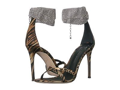 Giuseppe Zanotti Janell Rhinestone Collar Crossover Heel Sandal (Ghepardo Naturale) Women