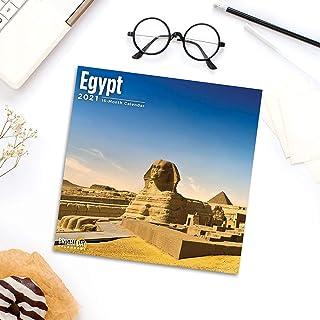 2021 Egypt Wall Calendar by Bright Day, 12 x 12 Inch, Beautiful Travel Destination
