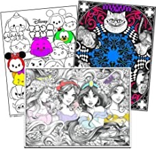 Disney Coloring Poster Set for Kids Adults -- 3 Giant Coloring Posters Featuring Alice in Wonderland, Disney Princess and More (18