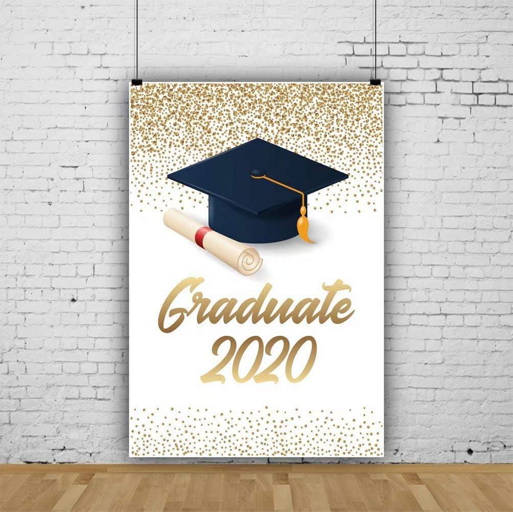 OFILA 2020 Graduates Backdrop 10x12ft 2020 Graduation Party Photos Background Trencher Cap Diploma Shoots Graduation Ceremony Background College Graduation Season Events Decor Props