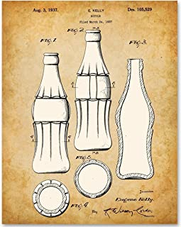 Coca Cola Bottle - 11x14 Unframed Patent Print - Makes a Great Gift Under $15 for Coke Lovers