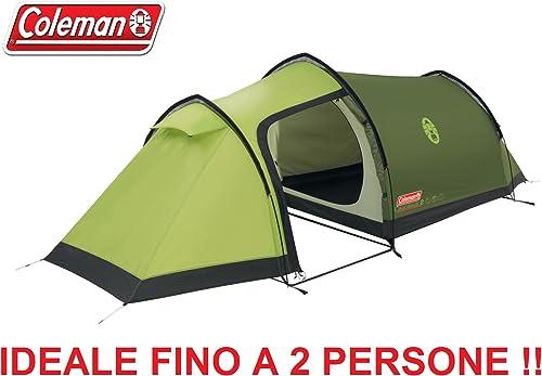Tente pour camping à 2places modèle Caucasus 2marque Colehomme avec tissu à feu retardé et sac pour le transport