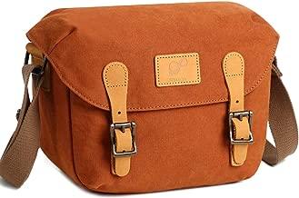 Small Camera Bag SLR/DSLR Shoulder Bag Canvas Removable Inserts Messenger Bag Waterproof Digital Camera for Sony, Canon, Olympus (Orange)